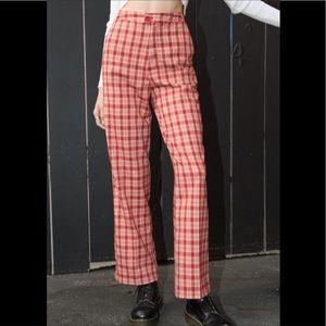 Brandy Melville John Galt Valentina plaid pants